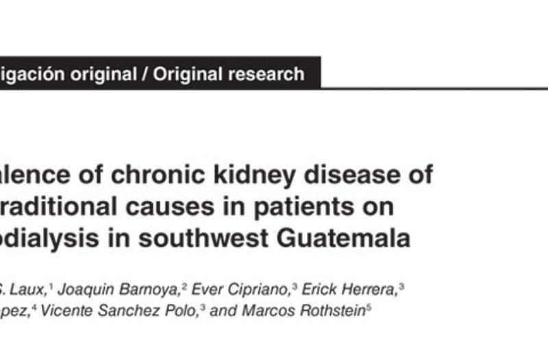 Prevalencia de enfermedad renal crónica Guatemala