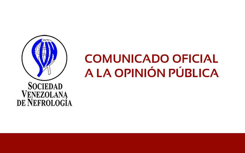 Sociedad Venezolana de Nefrología – Comunicado